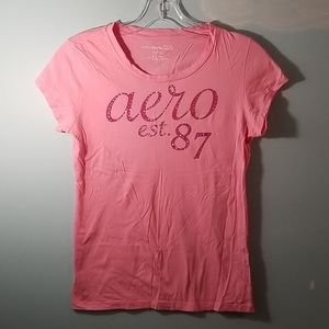 Aeropostale pink 100% cotton basic shirt size XL